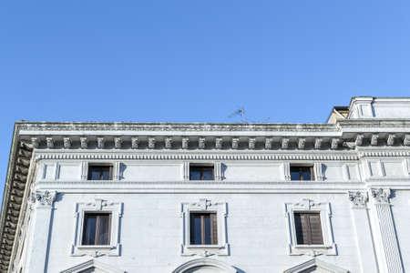 renaissance: Ancient renaissance building in the downtown of Ferrara