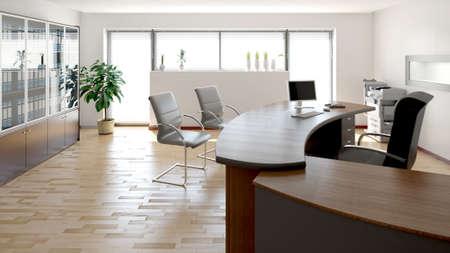 3D interiér vykreslování moderní kancelář