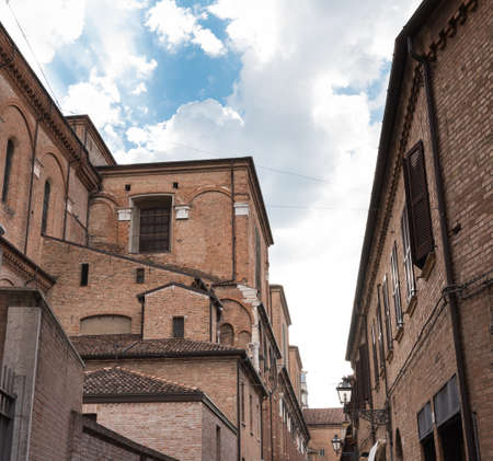 ferrara: Ancient cathedral in the downtown of Ferrara city