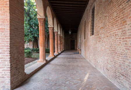 curch: Interior cloister of a little curch in Italy Stock Photo