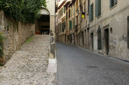 A road from Asolo, a small townman haven of artists, writers and poets. Stock Photo