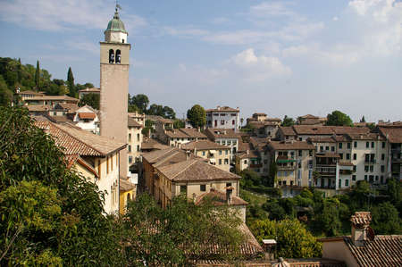 Asolo, Italy, panoramic view. One of the most beautiful villages in Italy.