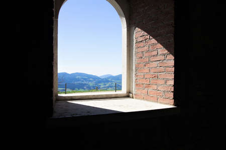 Forte Interrotto dominates the Asiago plateau from above, in the province of Vicenza, northern Italy Banco de Imagens