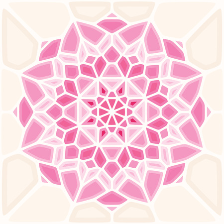 Abstract Pink Rose Button. This design can be used as pattern. Ideal for weddings or work relating to maternity. Vector illustration created with voronoi diagrams  イラスト・ベクター素材