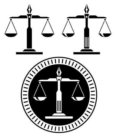 3 つの異なるバージョンで正義のスケール。