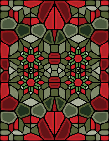 A Vector abstract christmas background created with the Voronoi method.