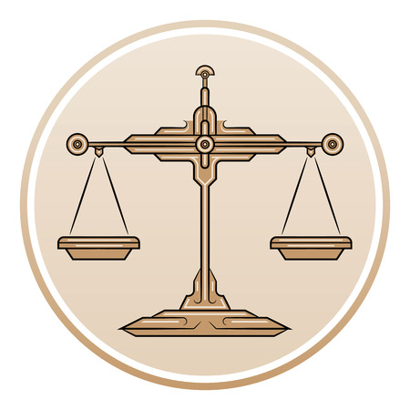 scale of justice: A scale of justice.