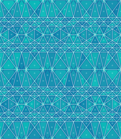 Abstract geometric background with triangular shapes of different shades of blue. Ilustração