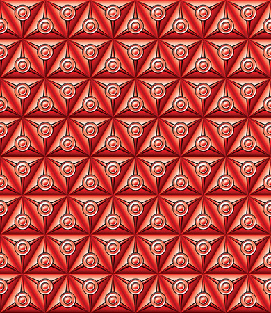 Abstract geometric background with triangular and circular shapes red.