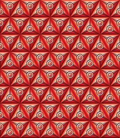 Abstracte geometrische achtergrond met driehoekige en ronde vormen rood. Stock Illustratie