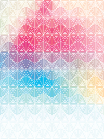 Multicolor design with triangular geometric shapes With modern look