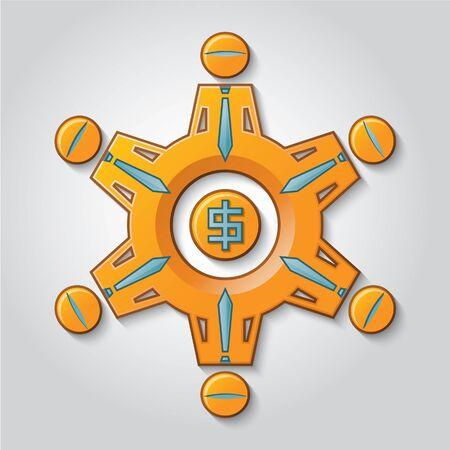 earnings: Ein Getriebe stellt eine Arbeitsgruppe, die den Gewinn generiert.