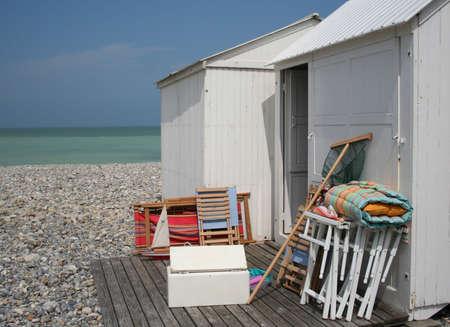 beachhut Stock Photo