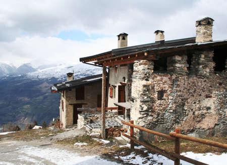 mountain home Stock Photo