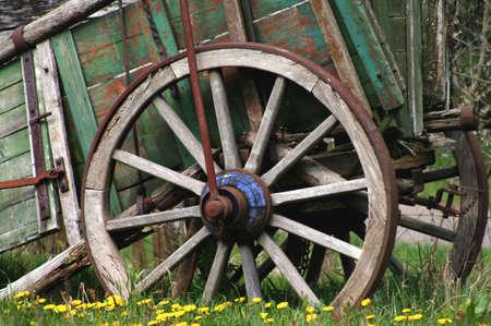 old wagon,