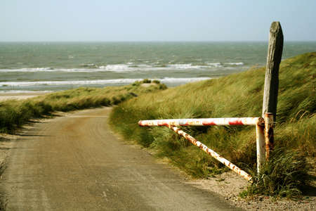 open road to the shoreline