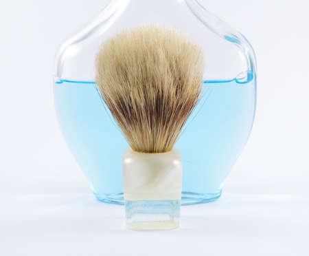 aftershave: shaving brush and aftershave