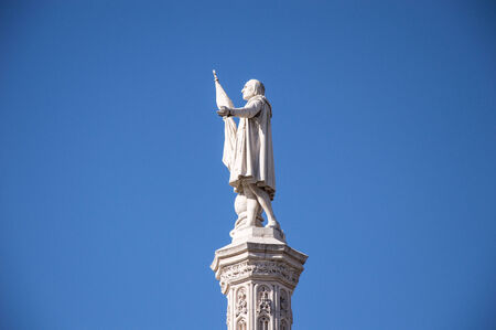 christopher: Sculpture Christopher Columbus in Madrid Spain