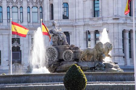 urban scenics: Source Cibeles Madrid Spain in tne morning