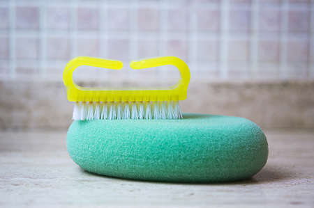 nail brush: Nail brush and sponge bath