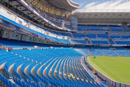 MADRID, SPAIN - MARCH 24: View Santiago Bernabeu football stadium