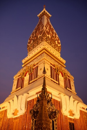 northeastern: Wat Prathat Panom in night light, Nakornpanom province, northeastern of Thailand
