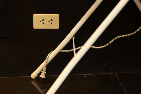 unplugging: unplugging unused appliances concept  Stock Photo