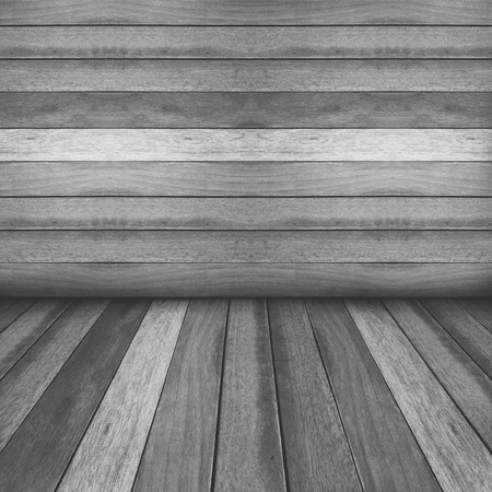 Wooden panel wall and floor interior background.