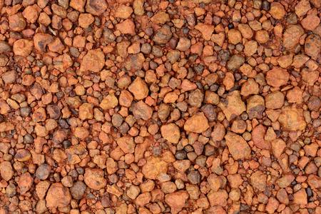 chromic: red laterite gravel for background.