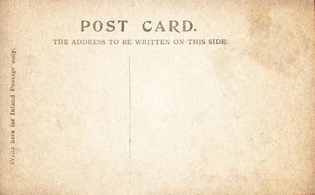 Vintage Post Card back.