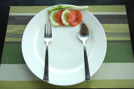 leavings: empty plate of fried rice eaten.