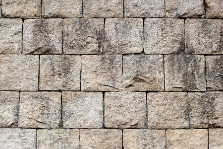 rock wall: Rock brick wall for background.