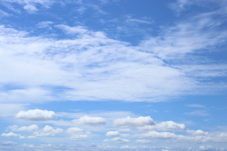 White cloud spread on blue sky, natural background.