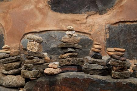Small stone built pagoda for prayer.