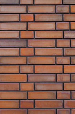 Brown brick wall for background.
