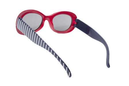 Beautiful sunglasses isolated on white Stock Photo