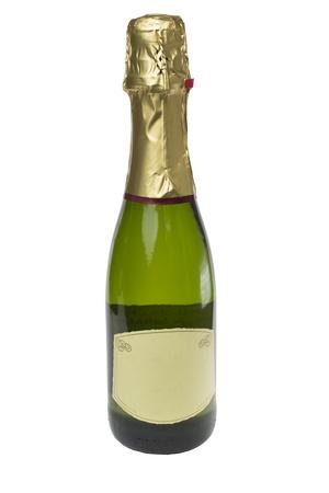 Champagne bottle isolated on white background Stock Photo