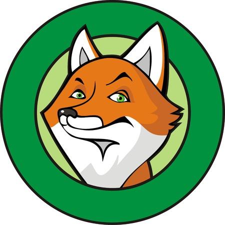 Fox in a frame Vector