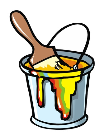 """""""paint can"""": Paintbrush in a paint can, element for design, vector illustration Illustration"""