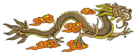 Chinese dragon, element for design, vector illustration Vector