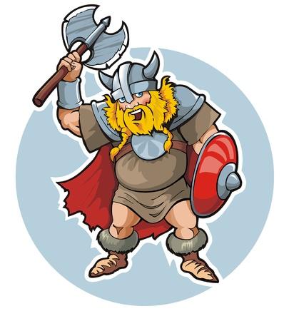 Viking, illustrazione vettoriale Vettoriali