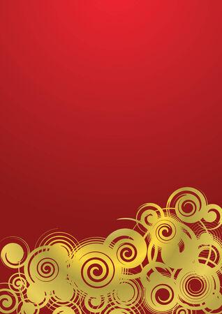 remplir: Contexte abstrait, golden ornement avec remplissage d�grad�, illustration vectorielle