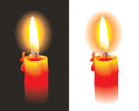 Burning candle, photo-realistic, vector illustration Stock Vector - 5545260