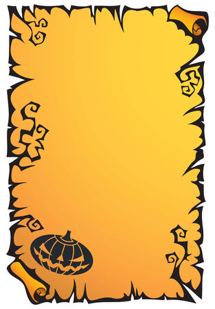 Halloween holiday scroll background with thorns, vector illustration Stock Vector - 5601299