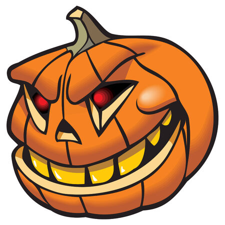 Jack-O-Lantern, Halloween pumpkin, vector illustration Stock Vector - 5601304