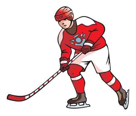 accessory: Hockey player, vector illustration