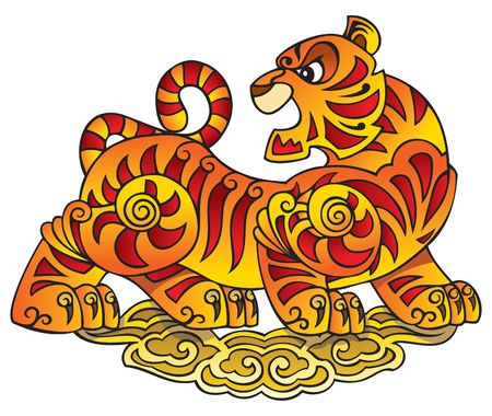 Tiger, symbol of 2010 year, a character of Chinese horoscope Stock Vector - 6667895