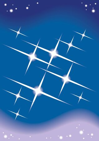 Shining stars in the space, abstract background Vector
