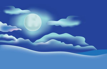 Moon in the night sky Stock Vector - 6667923