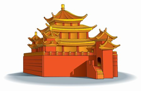 Chinese pagoda, in detail Stock Photo - 6680983